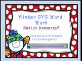CVC Winter Word Work~Freebie