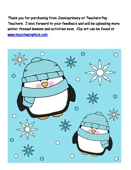 CVC - all short vowels- Winter themed Write The Room, Cute Penguin Theme