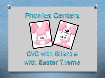 CVC With Silent e - Easter Bunny Theme