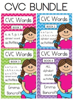 CVC Word Activities 4 Book Bundle