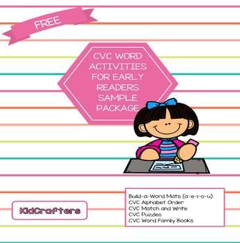 CVC Word Activities Free Sample