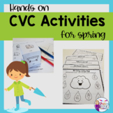 CVC Word Activities for Apraxia and Final Consonant Deletion-SPRING!