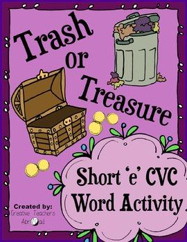 CVC Word Activity - Short 'e'