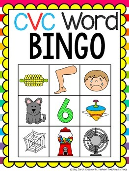 CVC Word BINGO Game