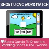 CVC BOOM CARDS | short vowel practice | short u task cards