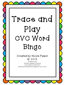 CVC Word Bingo Trace and Play