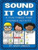 CVC Word Blending: 3 Part Phonics Activity