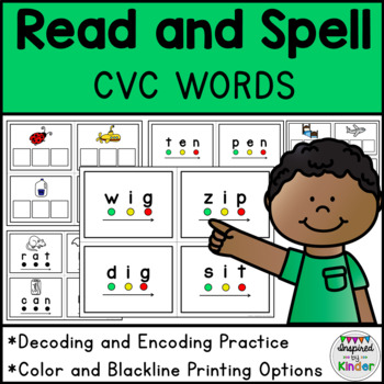 CVC Word Blending Cards