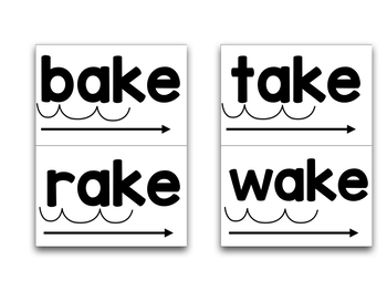 CVC-E Word Blending Cards