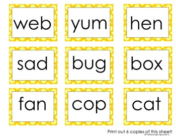 CVC Word Blending Practice Read and Cover (Edition 2!)