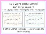 CVC Word Board Games