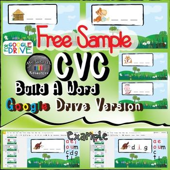 CVC Word Build - Google Drive - Free Sample
