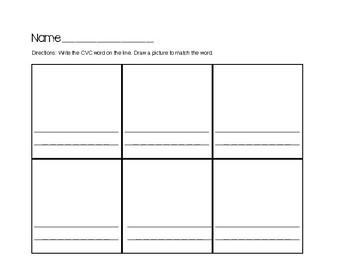 CVC Word Build Worksheet - Freebie