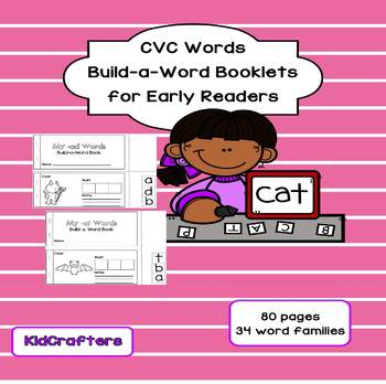CVC Word Build-a-Word Booklets