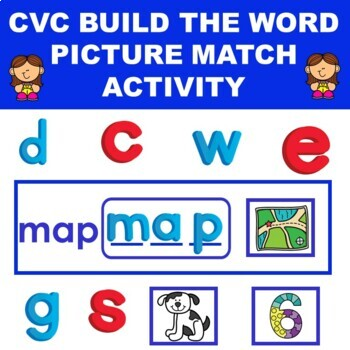 CVC Word Build and Match