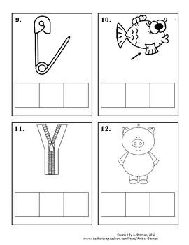 CVC Word Builder Cards