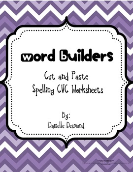 CVC Word Builder Cut and Paste