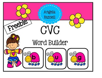 CVC Word Builder ~ Freebie