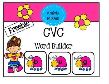 CVC Word Builder - Freebie