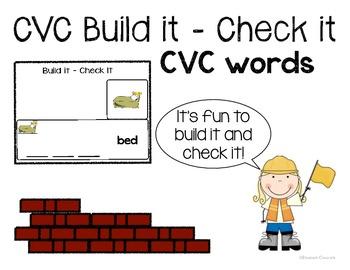 CVC Word Building - Build It, Check It Center