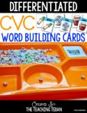 CVC Word Building Cards FREEBIE