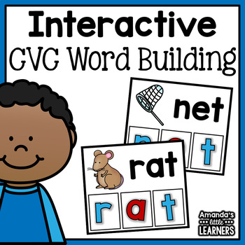 CVC Word Building Cards - Free