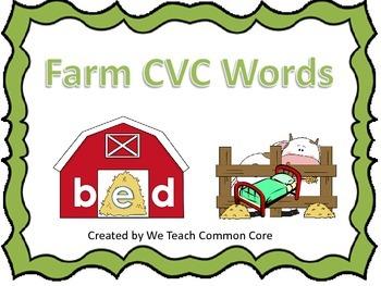 CVC Word Building Farm Themed Literacy Center Daily 5 Word