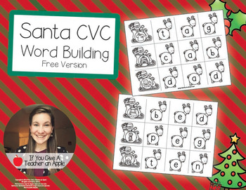 CVC Word Building Freebie - Help Santa Fly His Sleigh!