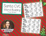 CVC Word Building Freebie - Help Santa Fly His Sleigh!