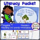 C-V-C Word Literacy Activities & Little Rabbit Singable