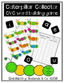 CVC Word Building Literacy Center Activity