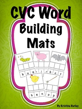 CVC Words - Word Building Mats