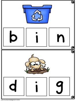 CVC Word Building Mats Medial I: Differentiated Literacy Center