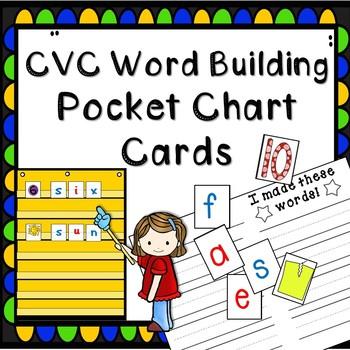 CVC Word Building Pocket Chart Cards -- Word Work -- Pocket Chart Station