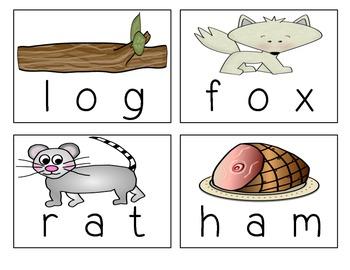 CVC Word Building Puzzles