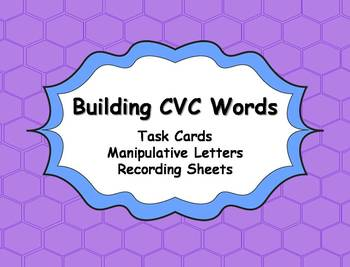 CVC Word Building Task Cards Activity