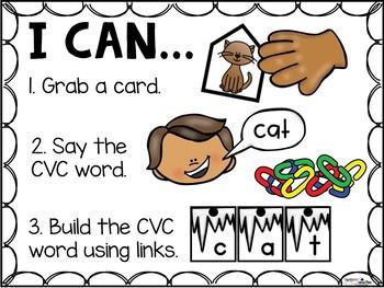 CVC Word Building - Winter Icicles CVC Word Literacy Center