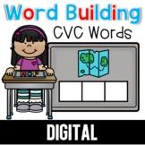 CVC Word Building for Google Classroom™ Seesaw™ BOOM CARDS™