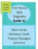 CVC Word Bundle 2 - WITH Diagraphs- All Ages-No Kiddie Graphics