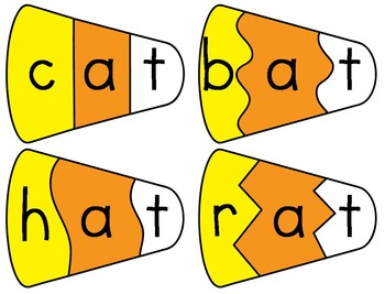 CVC Word Candy Corn Puzzles