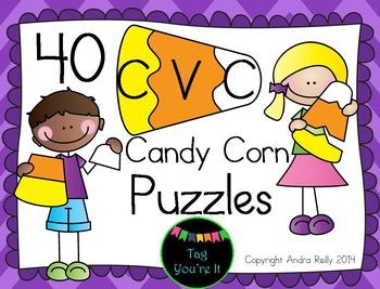 CVC Word Candy Corn Puzzles
