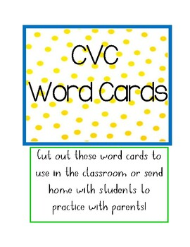 CVC Word Card Cut-Outs