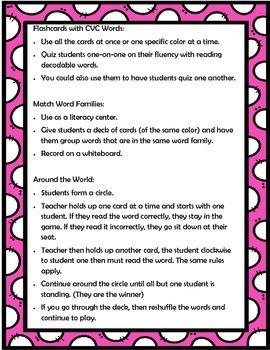 CVC Word Cards