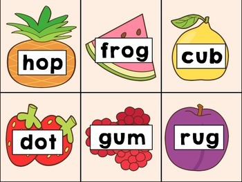 CVC Word Cards (Fruit theme!)
