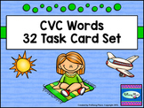 CVC Word Task Cards - Phonics Spelling and Writing Practice