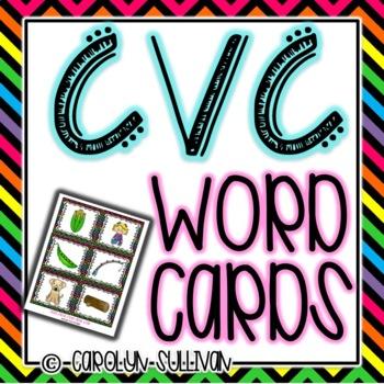 CVC Word Cards - Word Work