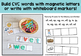 CVC Word Cards for Magnetic Letters or Write and Wipe
