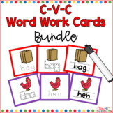CVC Word Cards for Writing Bundled