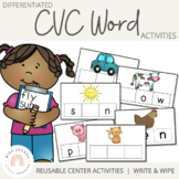 CVC Word Cards {Write & Wipe}