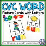 CVC Words With Pictures | Word Building Cards